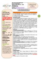 Bulletin municipal février 2021